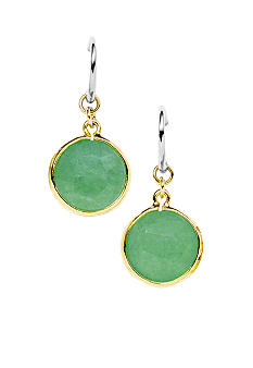 Fossil Green Dyed Jade Earrings