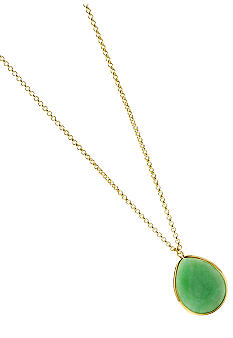 Fossil Green Dyed Jade Necklace