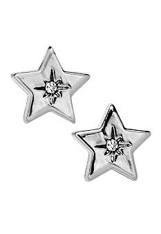 Fossil Silvertone Star Earrings