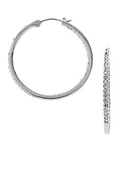 Fossil Medium Glitz Hoop Silver Tone with Clear Glitz