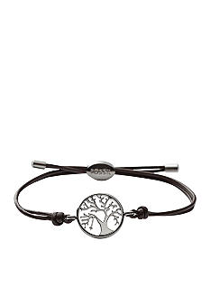 Fossil® Tree Adjustable Wrist Wrap Bracelet