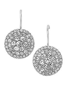 Fossil Pave Disk Earrings
