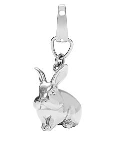 Fossil Shiny Stainless Steel Bunny Rabbit Charm