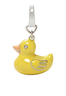 Fossil Yellow Rubber Ducky Charm
