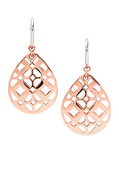 Fossil Rose Goldtone Drop Earrings