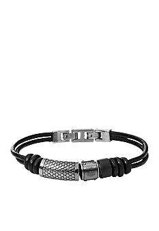 Fossil Men's Leather Bracelet