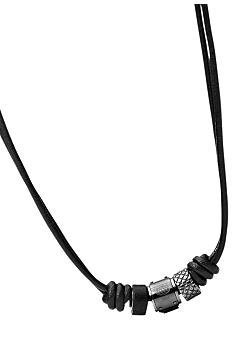 Fossil Men's Leather Necklace