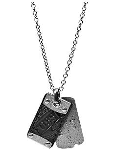 Fossil Men's Stainless Steel Dog Tag Necklace