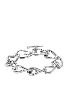 Fossil Polished Steel Link Bracelet