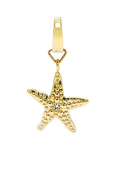 Fossil Goldtone Star Fish Charm