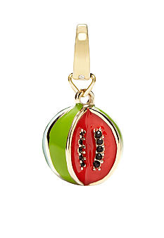 Fossil Goldtone Watermelon Charm