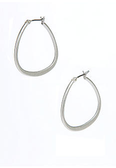 Kenneth Cole New York Teardrop Hoop Earrings