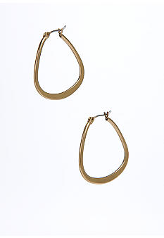 Kenneth Cole New York Gold-Tone Teardrop Hoop Earrings