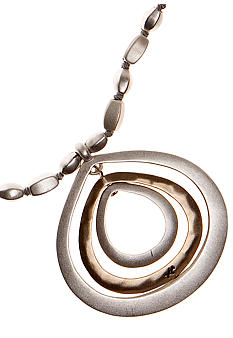 Kenneth Cole New York Two-Tone Orbital Pendant Necklace