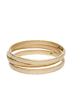 Kenneth Cole New York Gold Tone Hammered Bangle Set