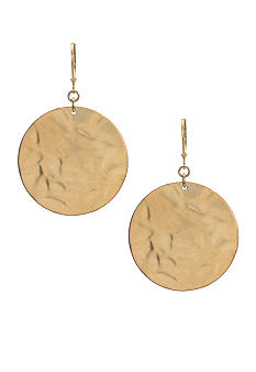 Kenneth Cole New York Goldtone Hammered Drop Earrings