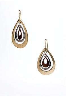 Kenneth Cole New York Triple-Tone Orbital Drop Earring