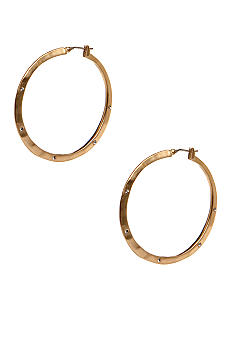 Kenneth Cole New York Goldtone Hammered Hoop Earrings