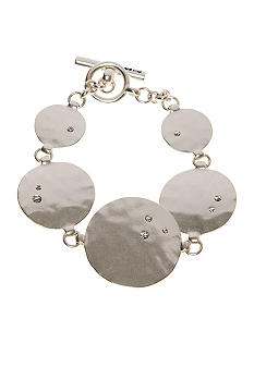 Kenneth Cole New York Silvertone Hammered Circle Bracelet