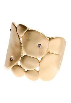 Kenneth Cole New York Goldtone Hammered Ring