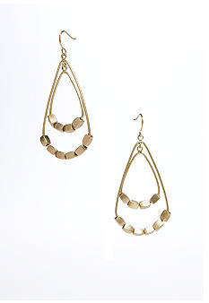 Kenneth Cole New York Gold-Tone Orbital Teardrop Earrings