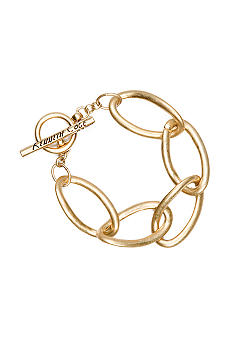 Kenneth Cole New York Gold-Tone Link Toggle Bracelet