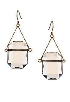 Kenneth Cole New York Square Smokey Stone Drop Earring