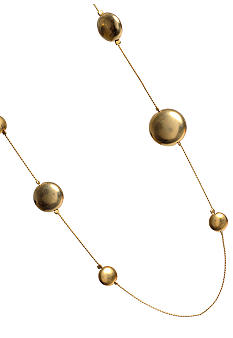 Kenneth Cole New York Gold Disc Long Illusion Necklace