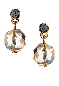 Kenneth Cole New York Circle Topaz Bead Chain Linear Earring