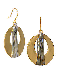Kenneth Cole New York Wire Wrapped Oval Drop Earring