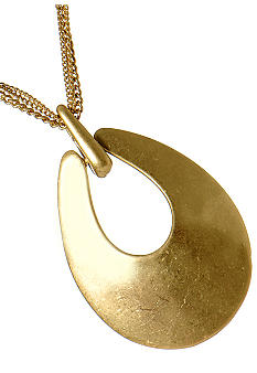 Kenneth Cole New York Gold Pendant Necklace