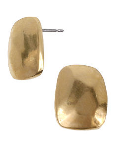 Kenneth Cole New York Gold Square Stud Earrings
