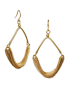 Kenneth Cole New York Gold Multi Chain Chandelier Earring