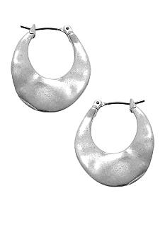 Kenneth Cole New York Small Silver Hoop Earrings