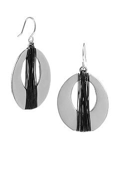 Kenneth Cole New York Wrapped Oval Hoop Earring