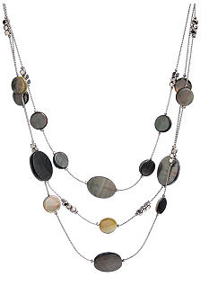 Kenneth Cole New York Shell Bead Illusion Necklace