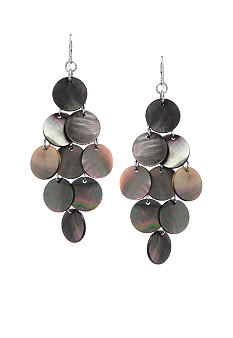 Kenneth Cole New York Shell Circle Chandelier Earrings