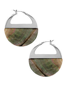 Kenneth Cole New York Shell Gypsy Hoop Earrings
