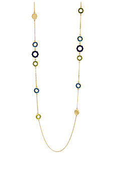 Kenneth Cole New York Geometric Bead Long Illusion Necklace
