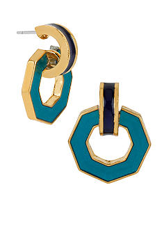 Kenneth Cole New York Geometric Drop Doorknocker Earrings