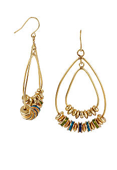 Kenneth Cole New York Geometric Bead Orbital Earrings
