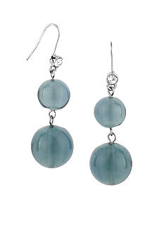 Kenneth Cole New York Double Round Bead Drop Earrings