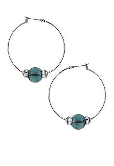 Kenneth Cole New York Bead Hoop Earrings