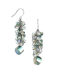 Kenneth Cole New York Faceted Shaky Bead Linear Earrings