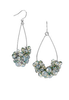 Kenneth Cole New York Faceted Shaky Bead Orbital Drop Earrings