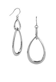 Kenneth Cole New York Double Teardrop Orbital Earrings