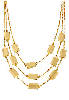 Kenneth Cole New York Faceted Rectangle Bead Illusion Necklace