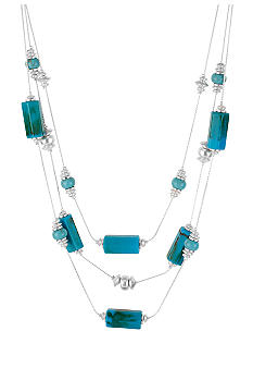 Kenneth Cole New York Turquoise Geometric Bead Illusion Necklace