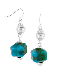 Kenneth Cole New York Turquoise Geometric Bead Drop Earrings