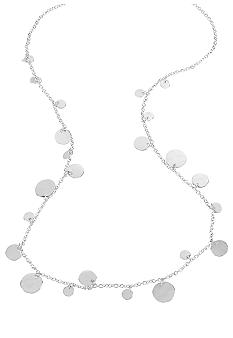 Kenneth Cole New York Shaky Silver Circle Long Necklace